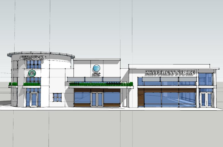 IONIC retail architectural rendering