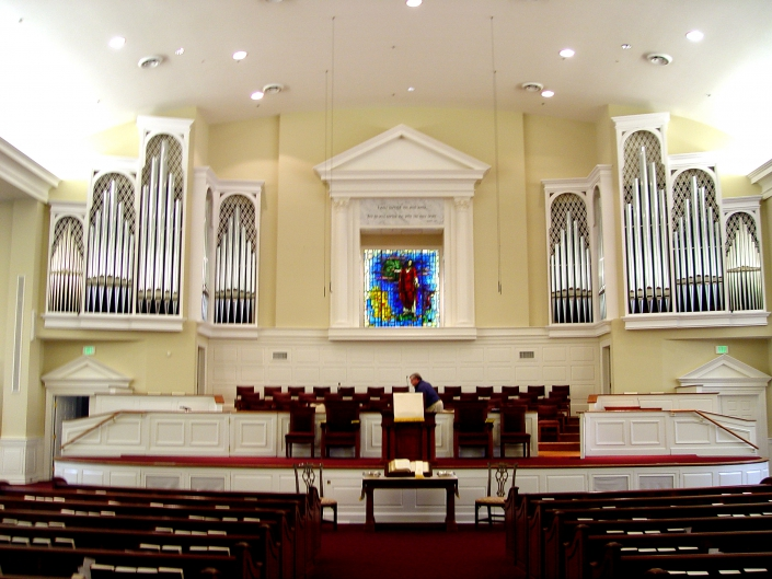Second Baptist Church organ design detail