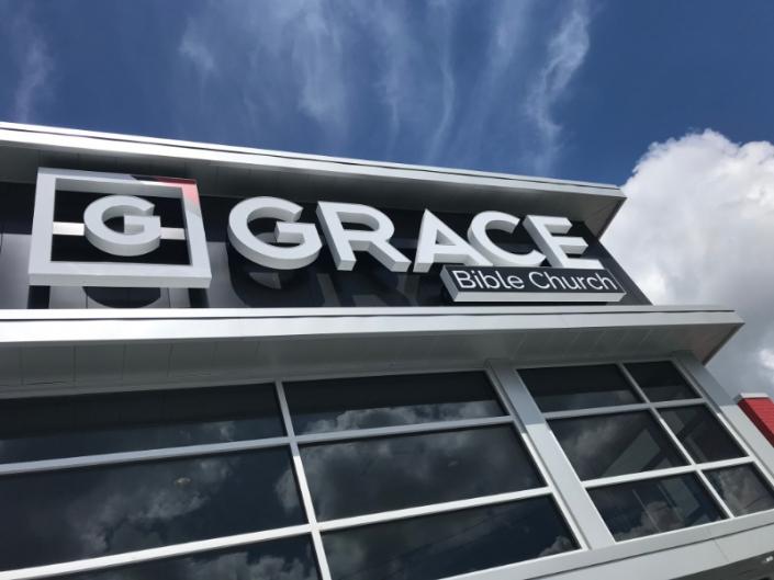 Grace Bible Church custom signage