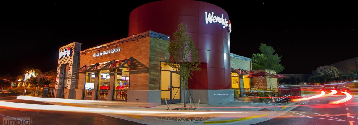 Wendy's Virginia Beach at night
