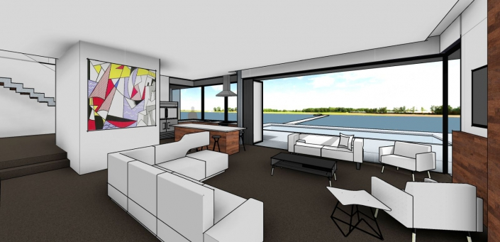 Bay Island Residence concept 3D render