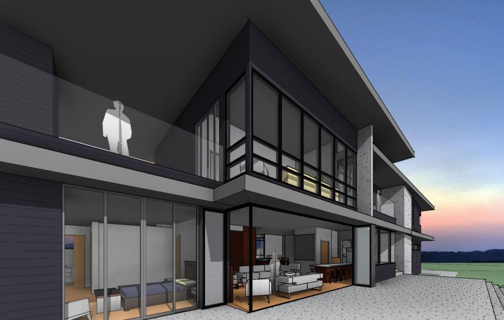 Bay Island Residence 3D render