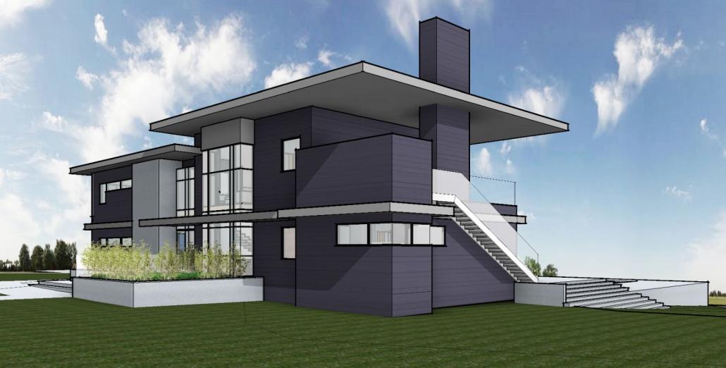 Bay Island Residence 3D render exterior
