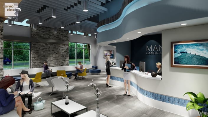 Mancoll Cosmetic and Plastic Surgery lobby design concept