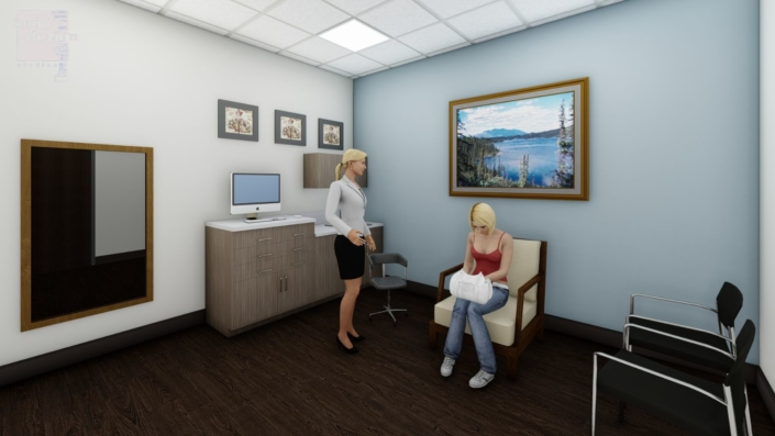 Mancoll Cosmetic and Plastic Surgery exam room concept